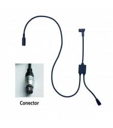 Cable de conexión con entrada de pedal tipo A para U-WAVE (Micrómetro MDC) - 02AZE140E