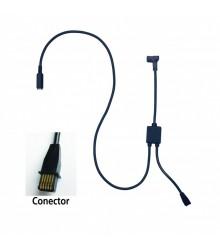 Cable de conexión con entrada de pedal tipo F para U-WAVE (Reloj Comparador) - 02AZE140F