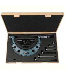 Micrómetro externo 0-100mm 0.01mm con topes intercambiables 104-139A