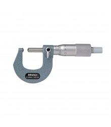 Micrómetro externo 0-25 mm 0.01 mm Para Tubo con Tope y Punta Esférico 115-215